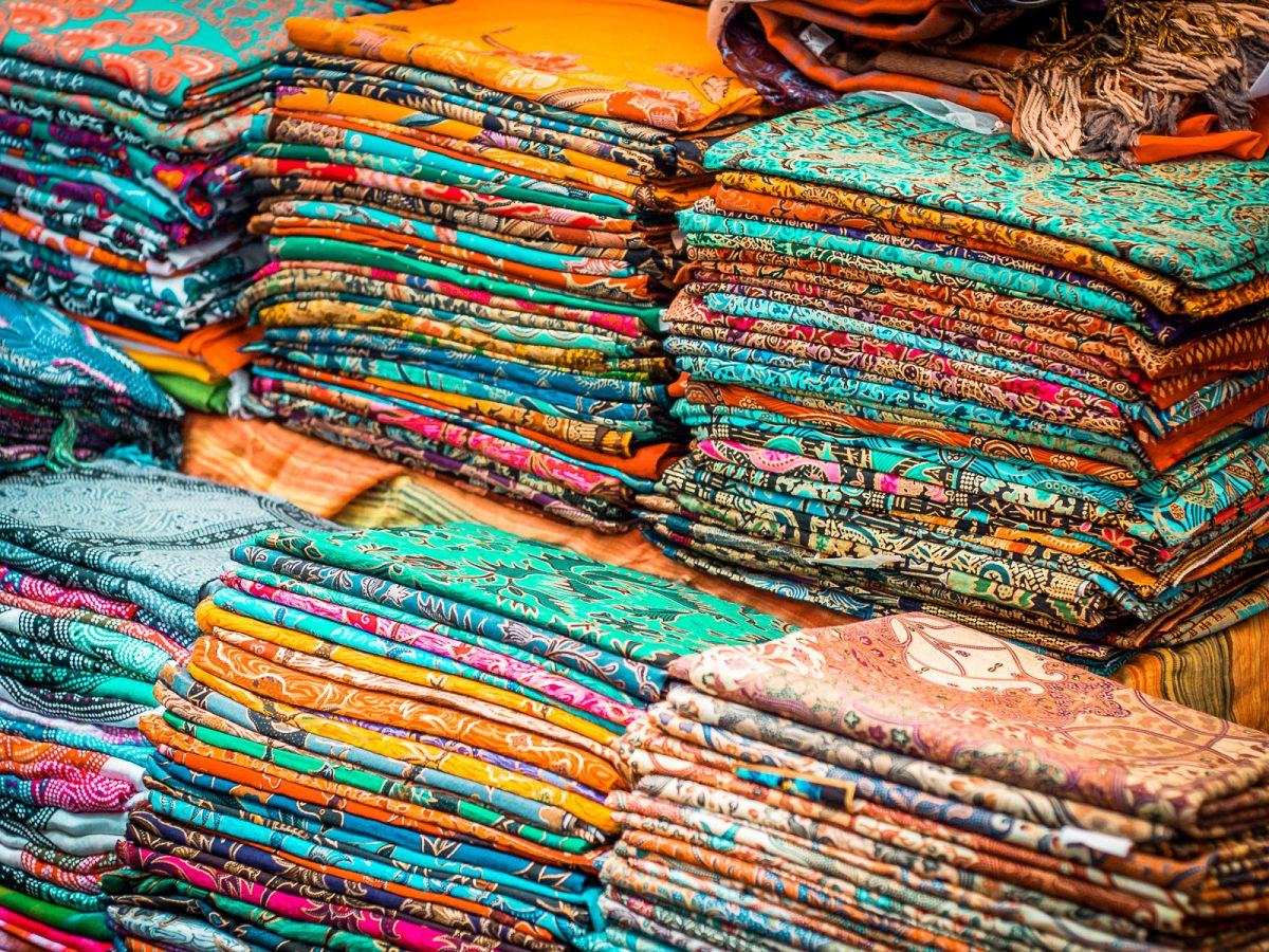 balinese batik sarongs in a variety of designs and colours
