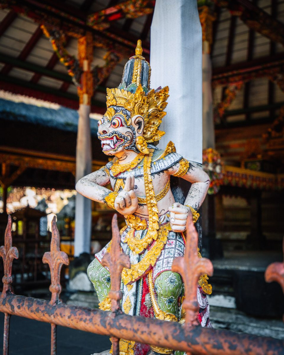 Balinese Hindu statue at pura gunung kawi sebatu - the holy spring temple in ubud