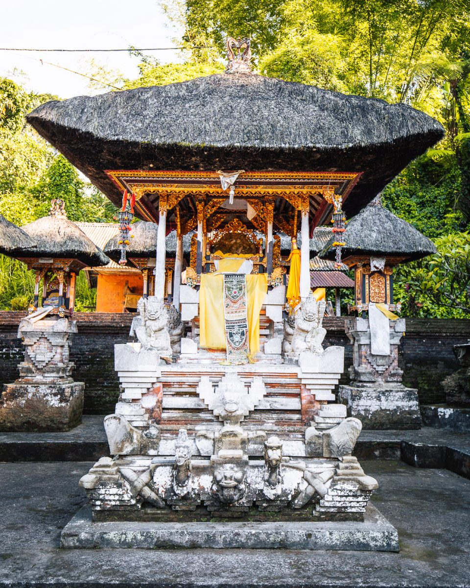shrine at pura gunung kawi sebatu - the holy spring temple in ubud