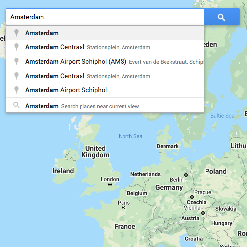 Search box in Google Maps